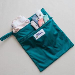 sea green double pocket wetbag