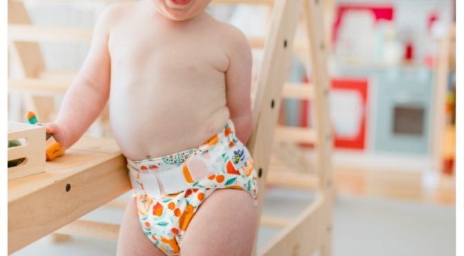 cloth nappy on toddler in childcare centre