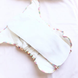 reusable nappy liner on bamboo fitted nappy